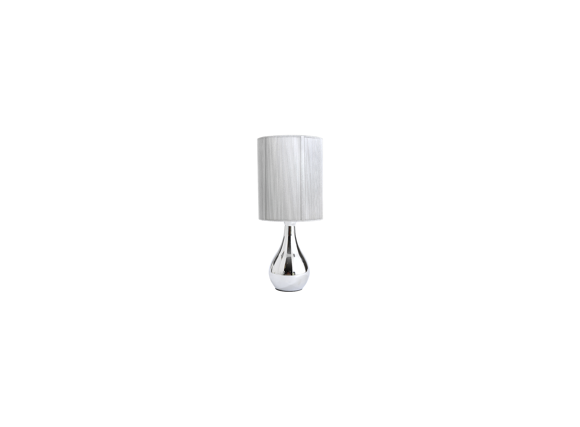Lampe a poser h42cm sensitive (on/off) - pied en acier peint, chrome  ...