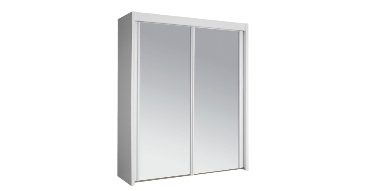 Armoire 2 portes coulissantes avec miroir fly for Armoire portes coulissantes fly