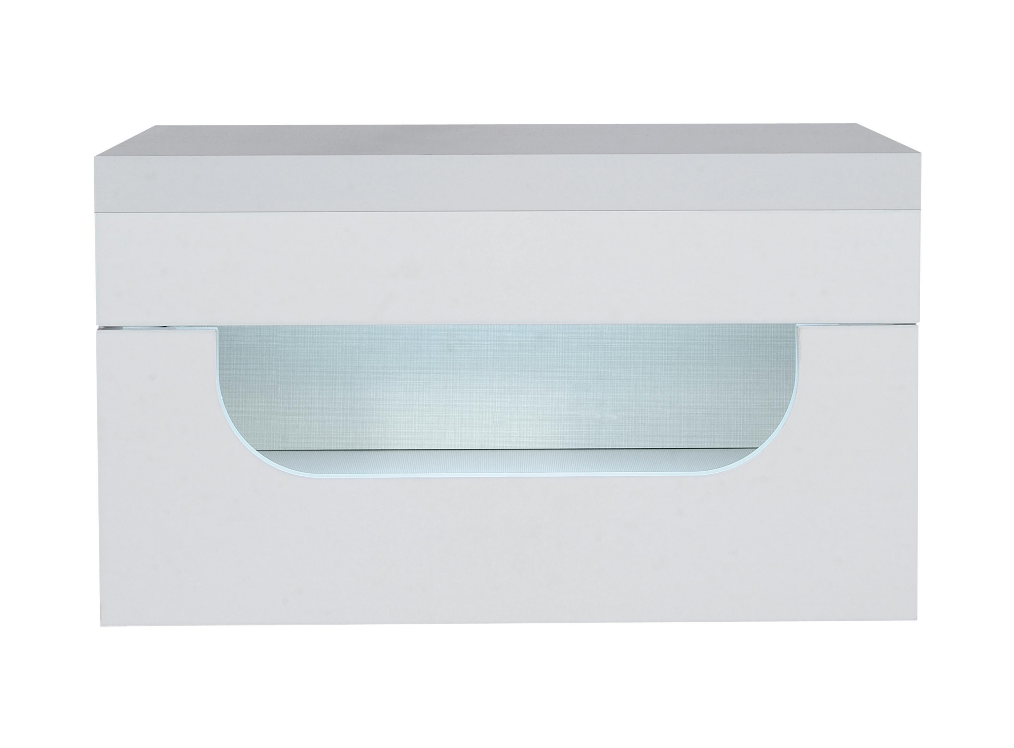 Chevet 1 tiroir sur glissieres metalliques. structure en panneau de p ...