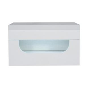 FLY-chevet 1 tiroir leds laque blanc