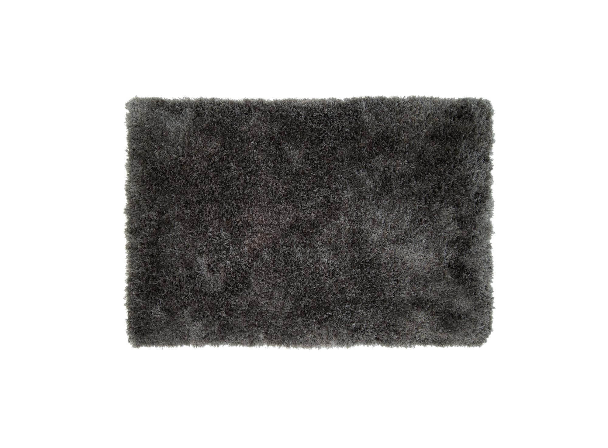 Tapis 120x170 100% polyester dos 100% coton coloris anthracite densi ...