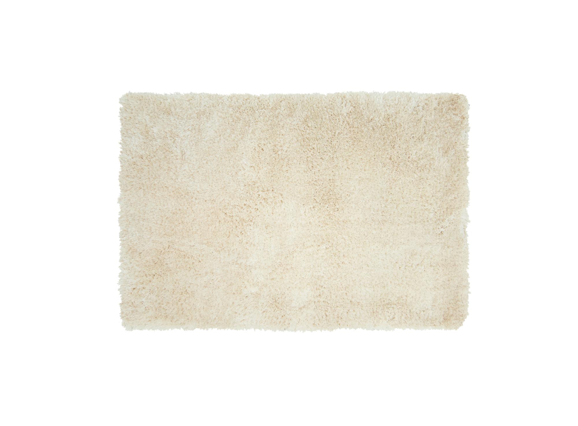 Tapis 160x230 100% polyester dos 100% coton coloris beige densite 21 ...