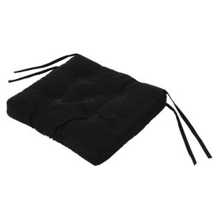 FLY-galette de chaise coton 39x39 noir
