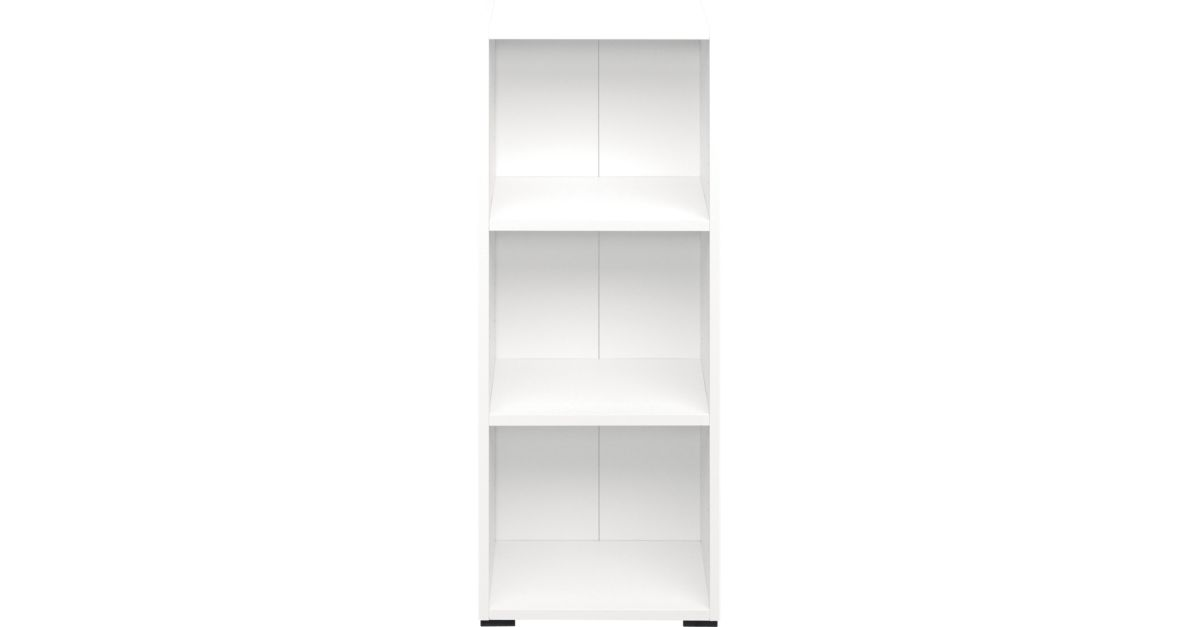 Bibliotheque 40x100x28 cm blanc fly - Meuble bibliotheque fly ...