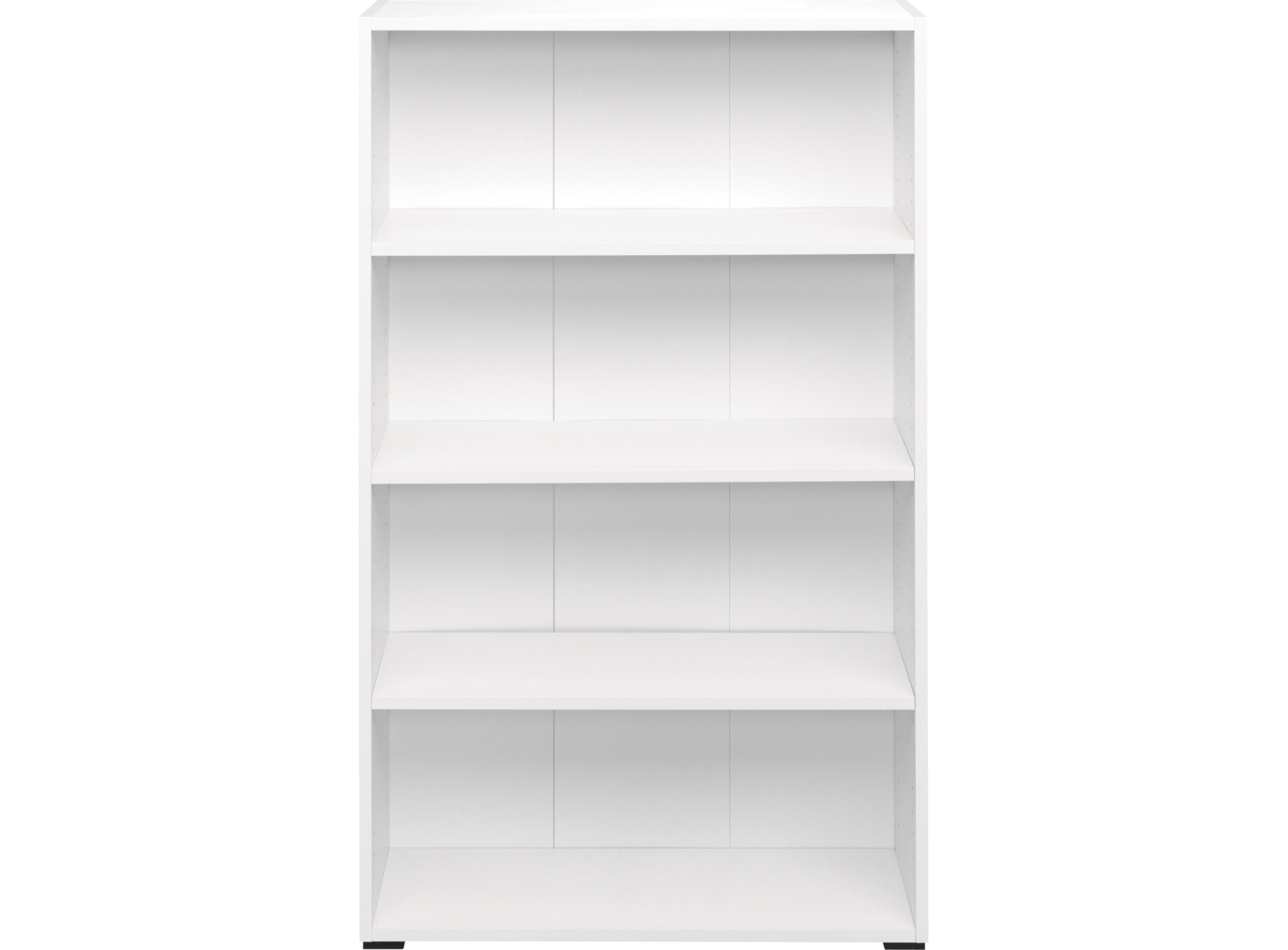 bibliotheque 80x132x28 cm blanc biblioth que salon s jour meuble fly. Black Bedroom Furniture Sets. Home Design Ideas