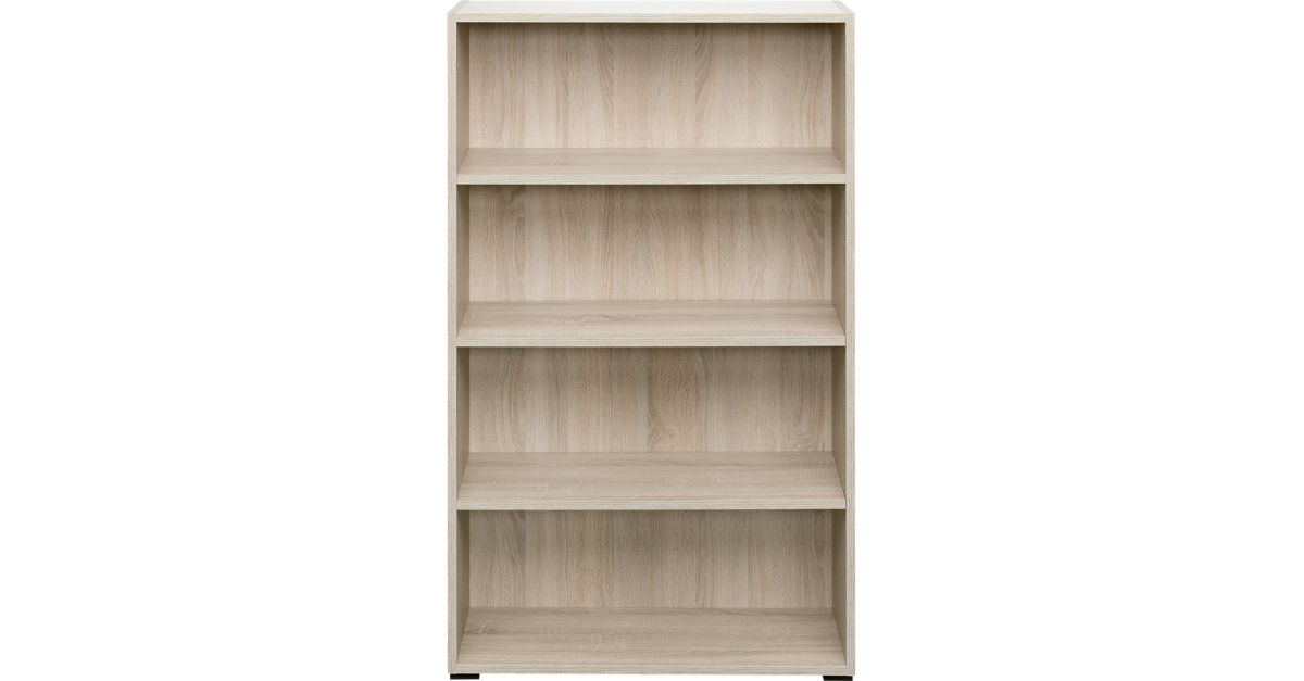 bibliotheque 80x132x28 cm chene biblioth que salon s jour meuble fly. Black Bedroom Furniture Sets. Home Design Ideas