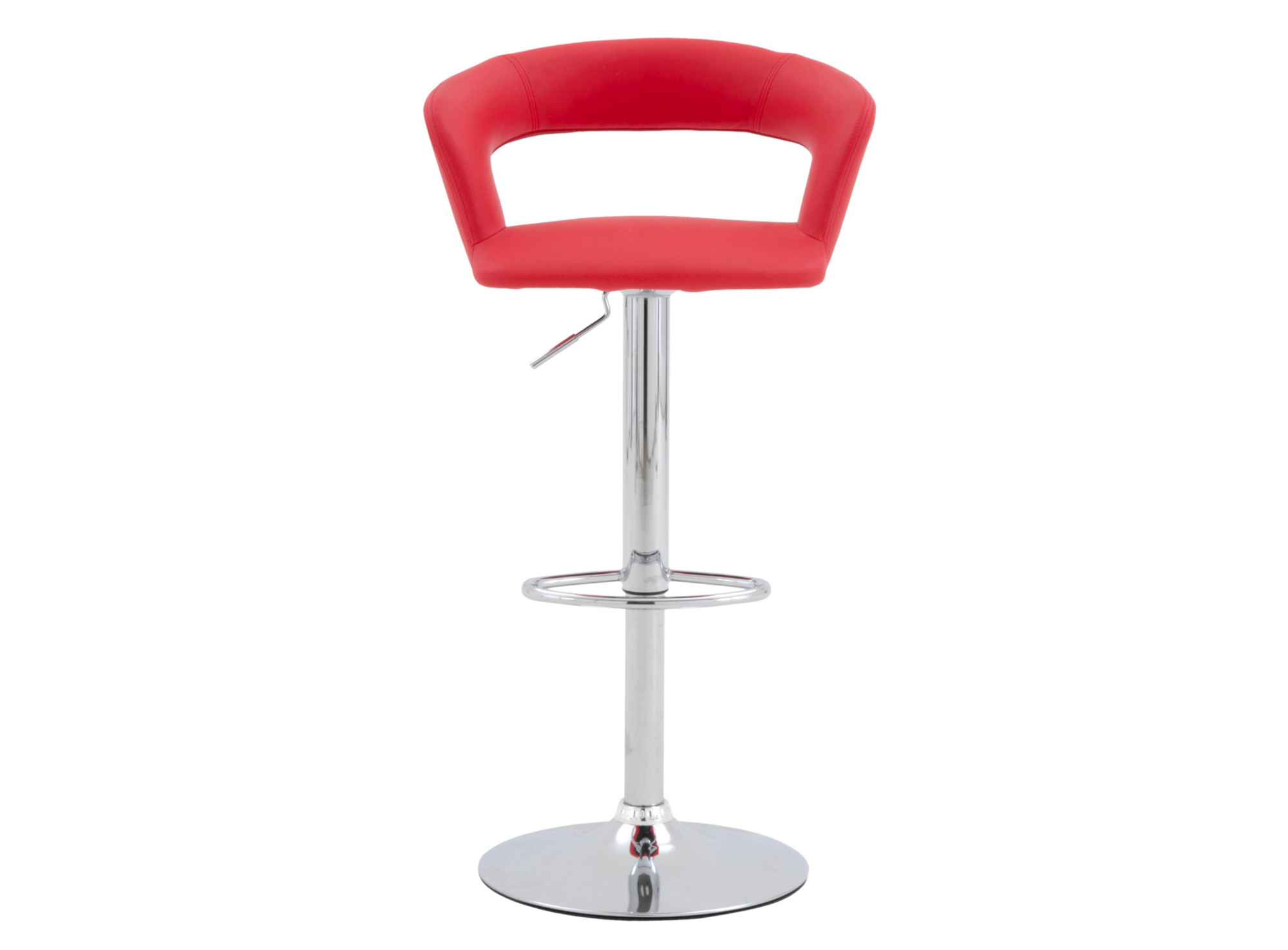 tabouret de bar rouge chrome fly. Black Bedroom Furniture Sets. Home Design Ideas