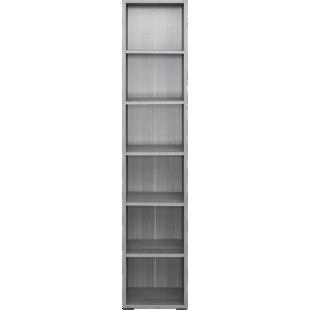 FLY-bibliotheque 40x196x28 cm chene argente