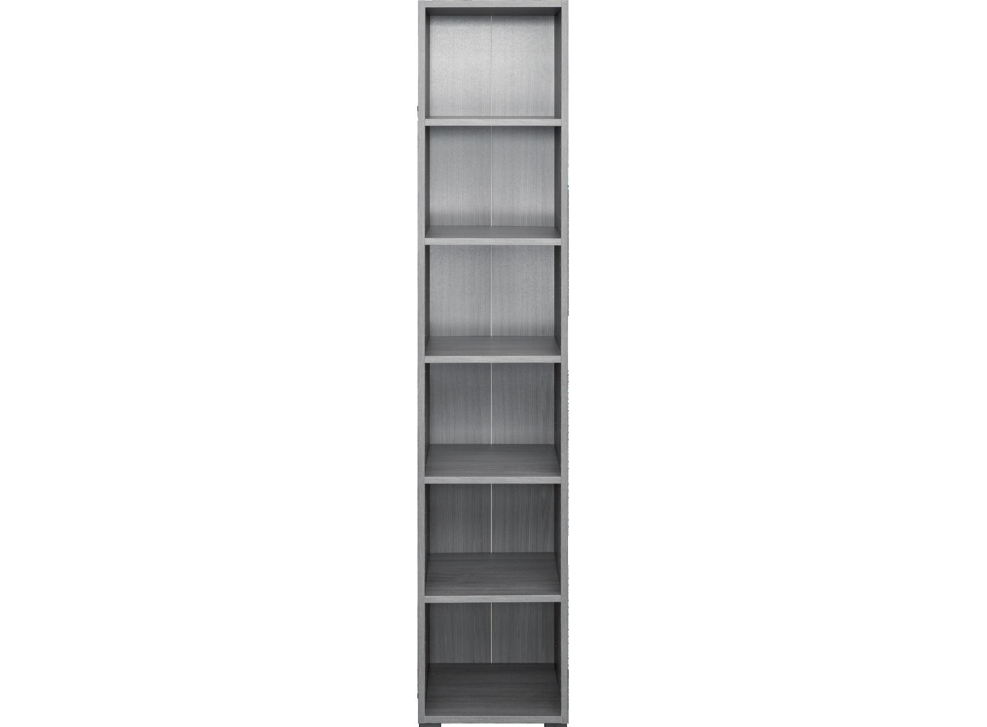bibliotheque 40x196x36 cm chene argente biblioth que. Black Bedroom Furniture Sets. Home Design Ideas