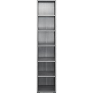 FLY-bibliotheque 40x196x36 cm chene argente
