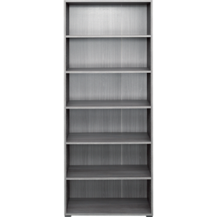 FLY-bibliotheque 80x196x36 cm chene argente