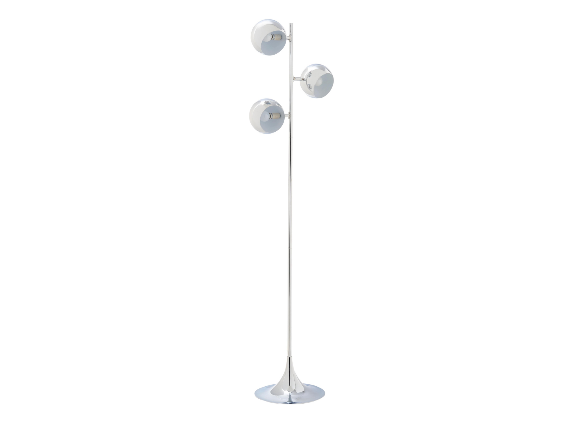 Lampadaire 3 lampes h 161 cm fly for Lampe salon fly