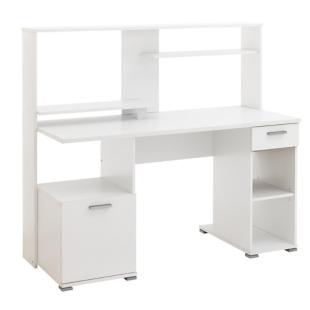 FLY-bureau informatique 1 p 1 t l144 cm blanc/gris