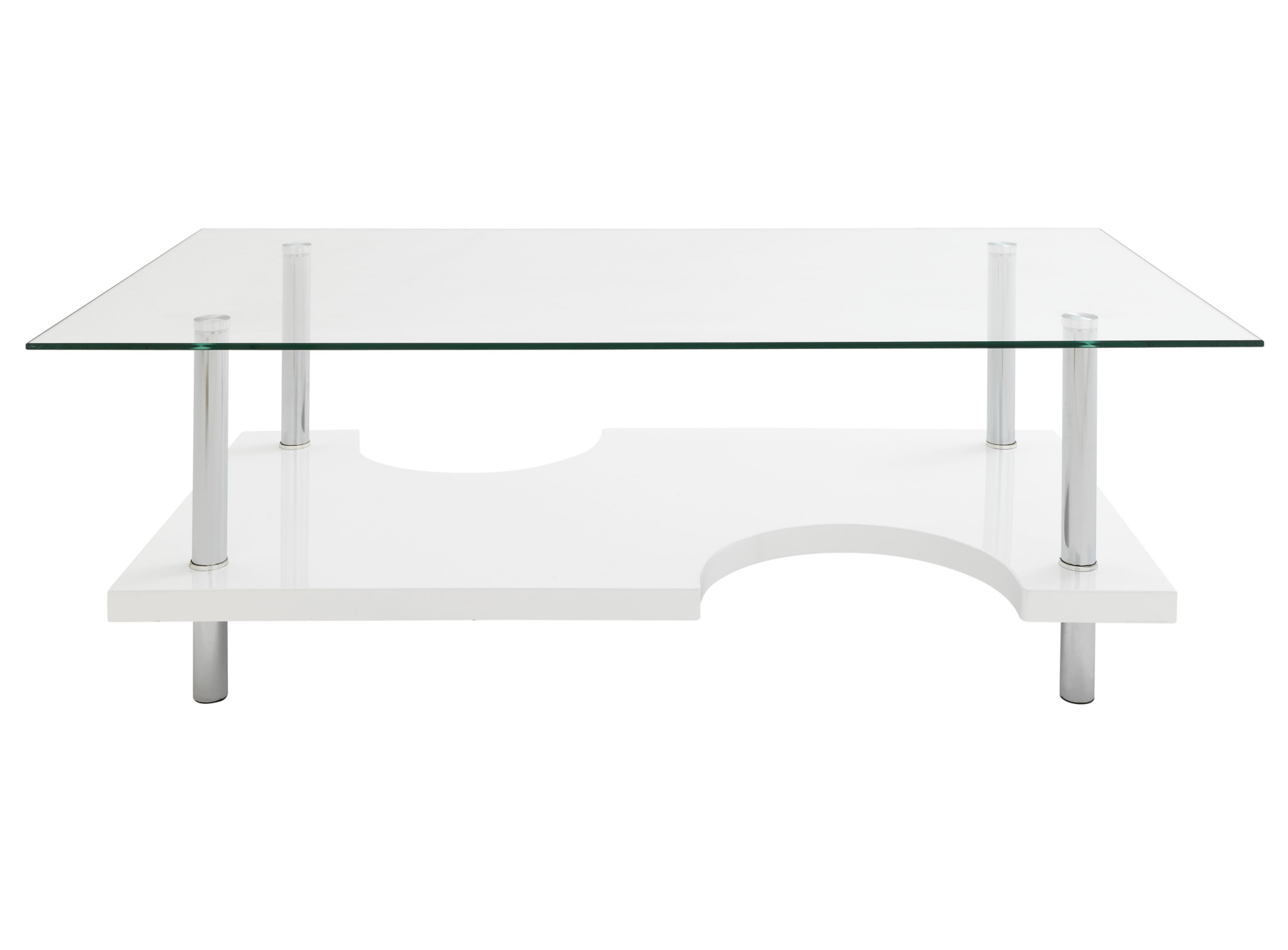 table basse blanc verre table basse d 39 appoint salon s jour meuble fly. Black Bedroom Furniture Sets. Home Design Ideas