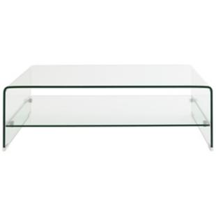 FLY-table basse l110 cm 2 plateaux verre