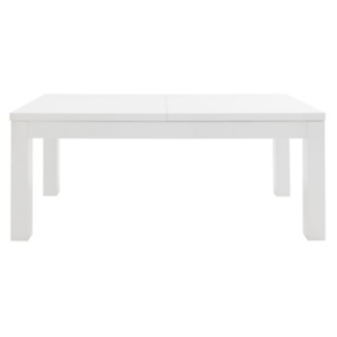 FLY-table + 2 allonges blanc brillant