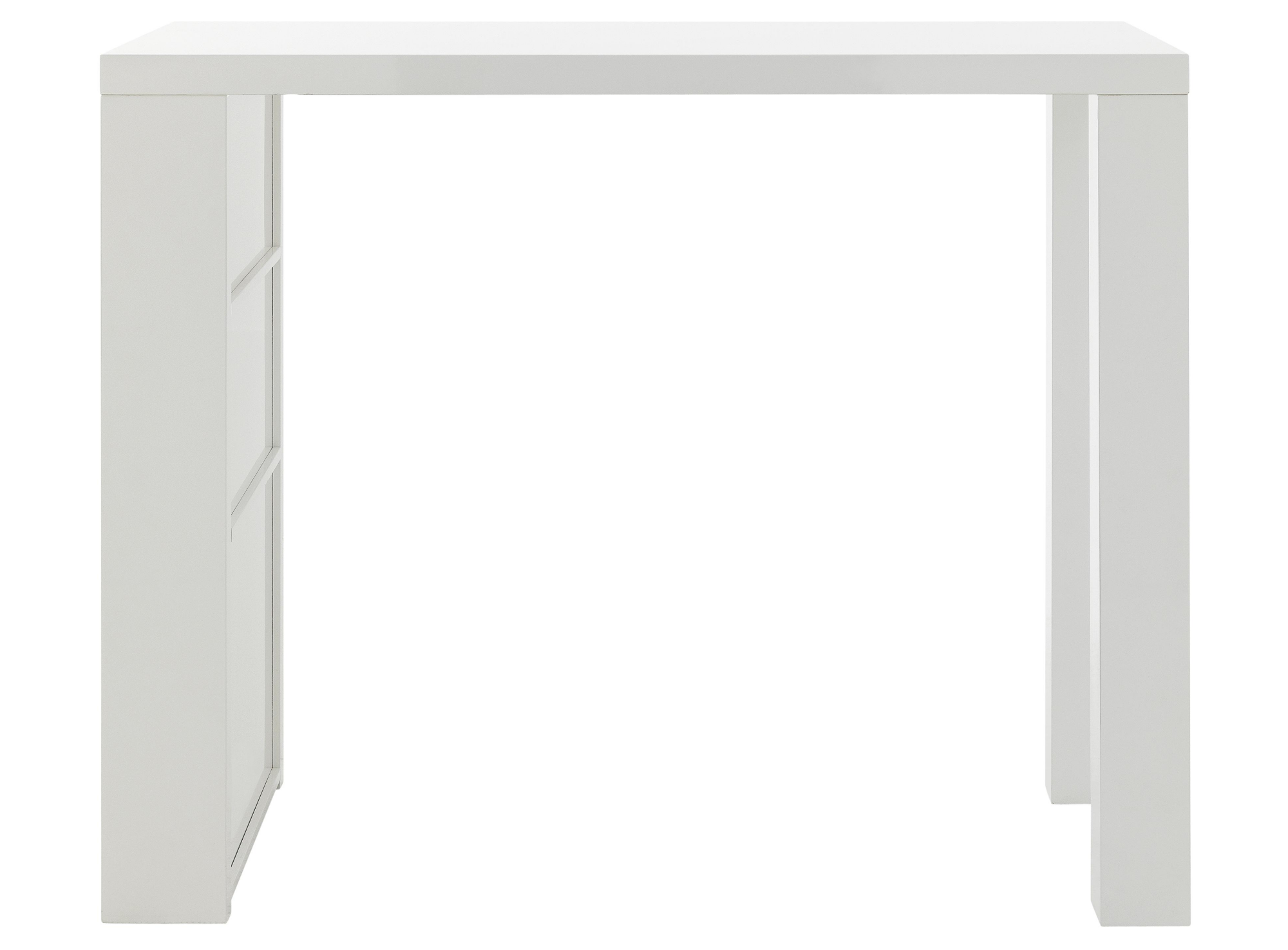 Table bar blanc brillant fly for Miroir rectangulaire fly