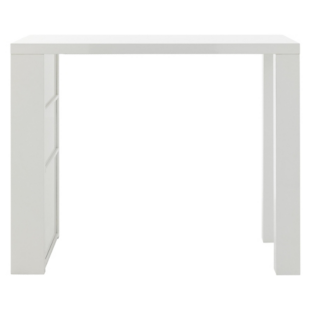 FLY-table bar blanc brillant