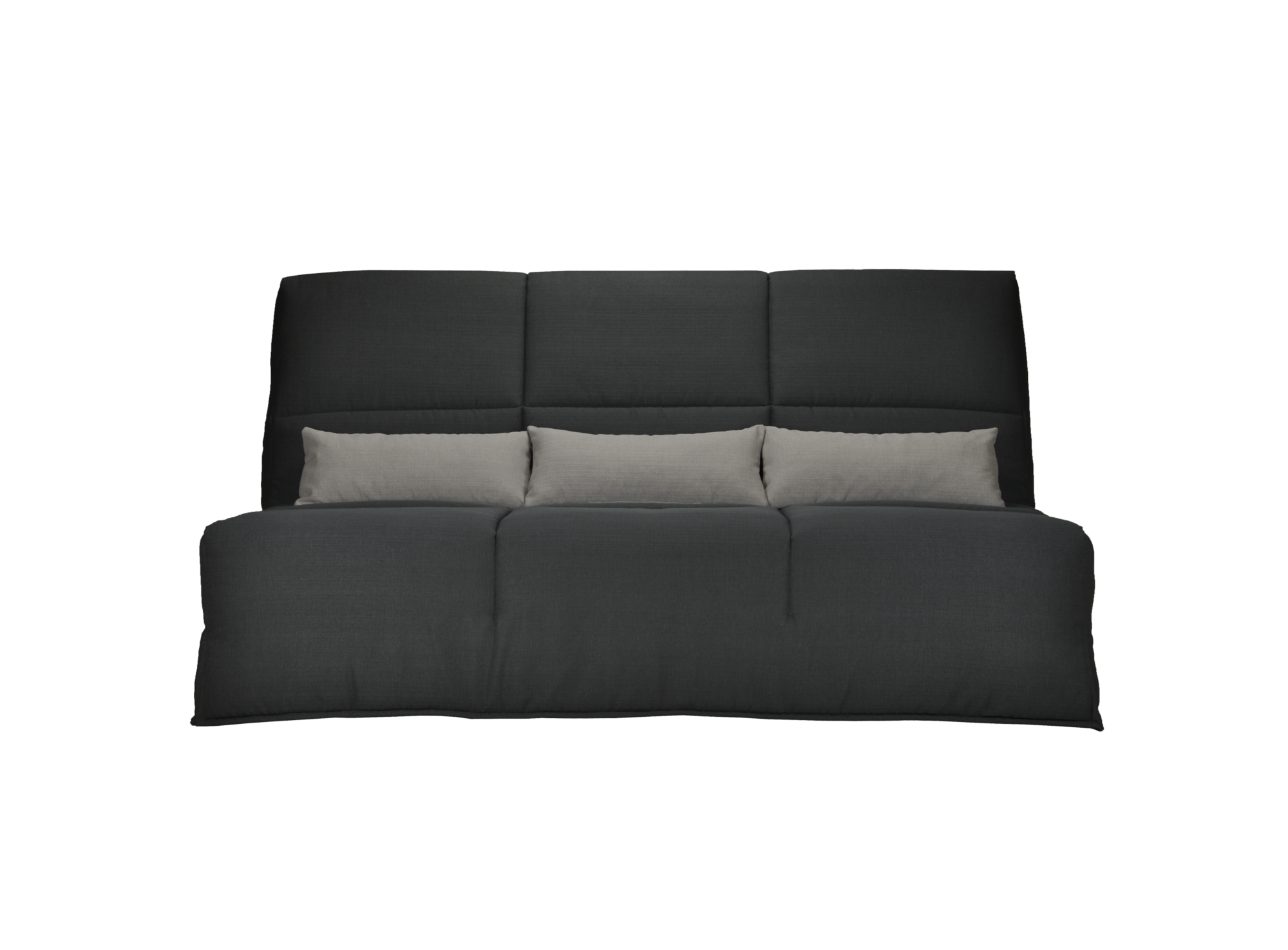 banquette clic clac bultex anthracite gris clair fly. Black Bedroom Furniture Sets. Home Design Ideas
