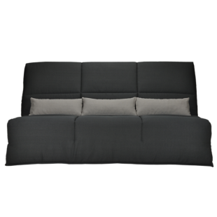 FLY-banquette clic clac bultex anthracite/gris clair