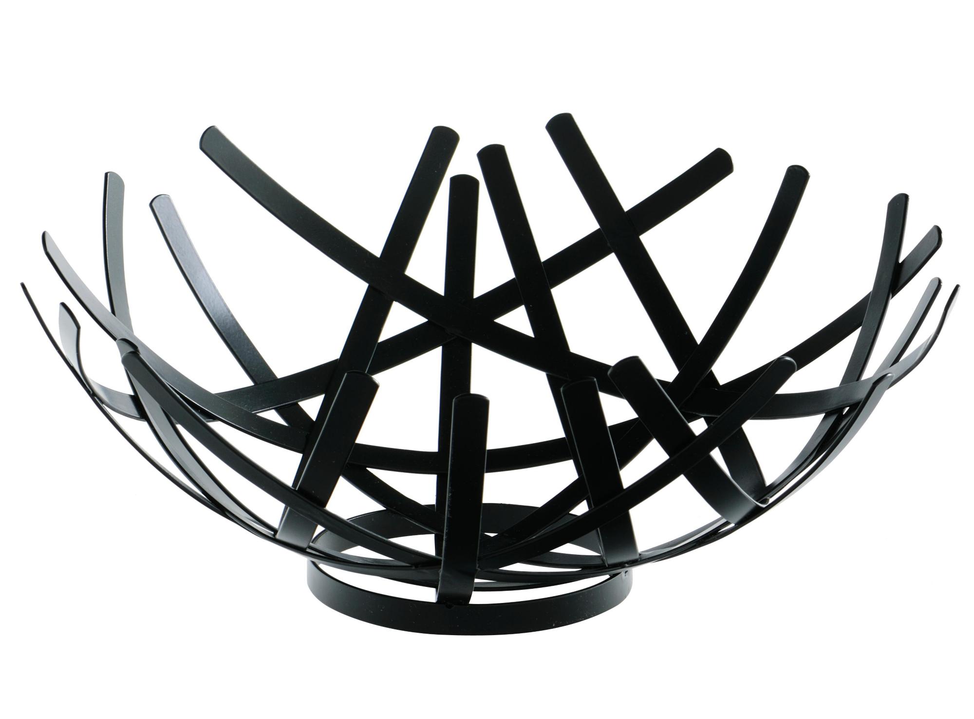 Coupe decorative d18cm en fer laque coloris noir