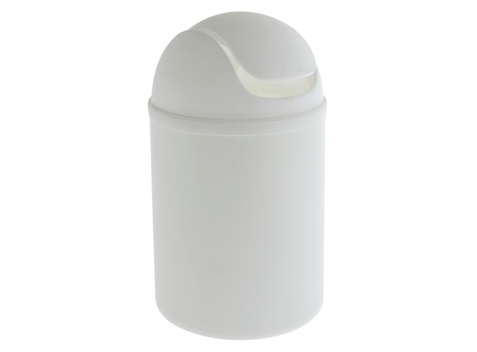 Poubelle couvercle a bascule en polypropylene teinte coloris blanc co ...