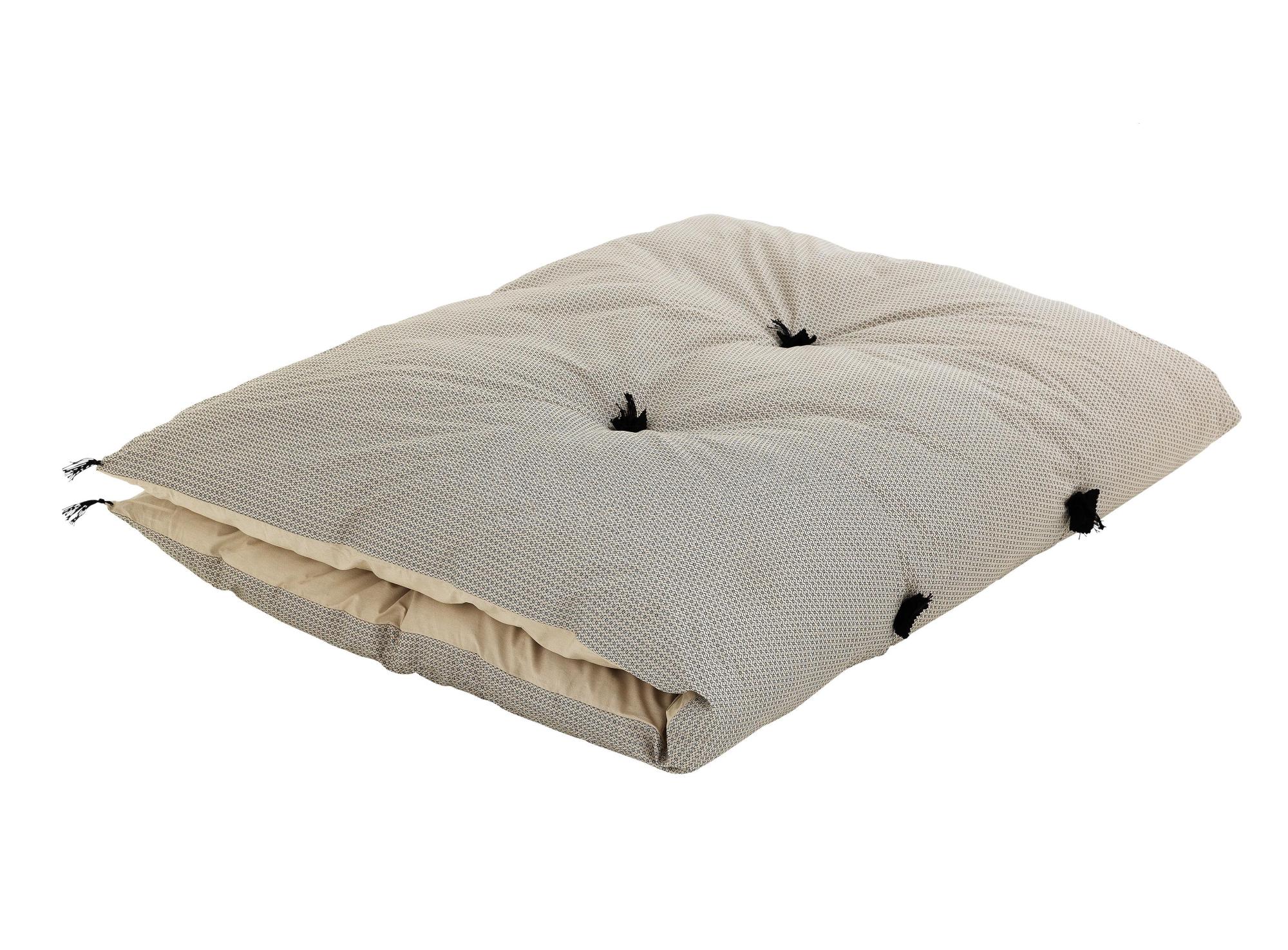 Duvet avec pompons revetu 100% coton garni 100% polyester coloris bei ...