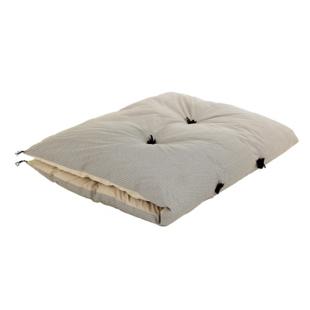 FLY-duvet avec pompons coton 100x180 beige/noir
