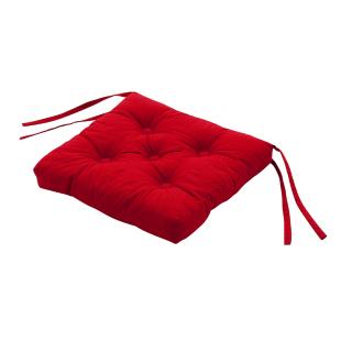 FLY-galette de chaise coton 39x39 rouge