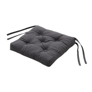 FLY-galette de chaise coton 39x39 gris