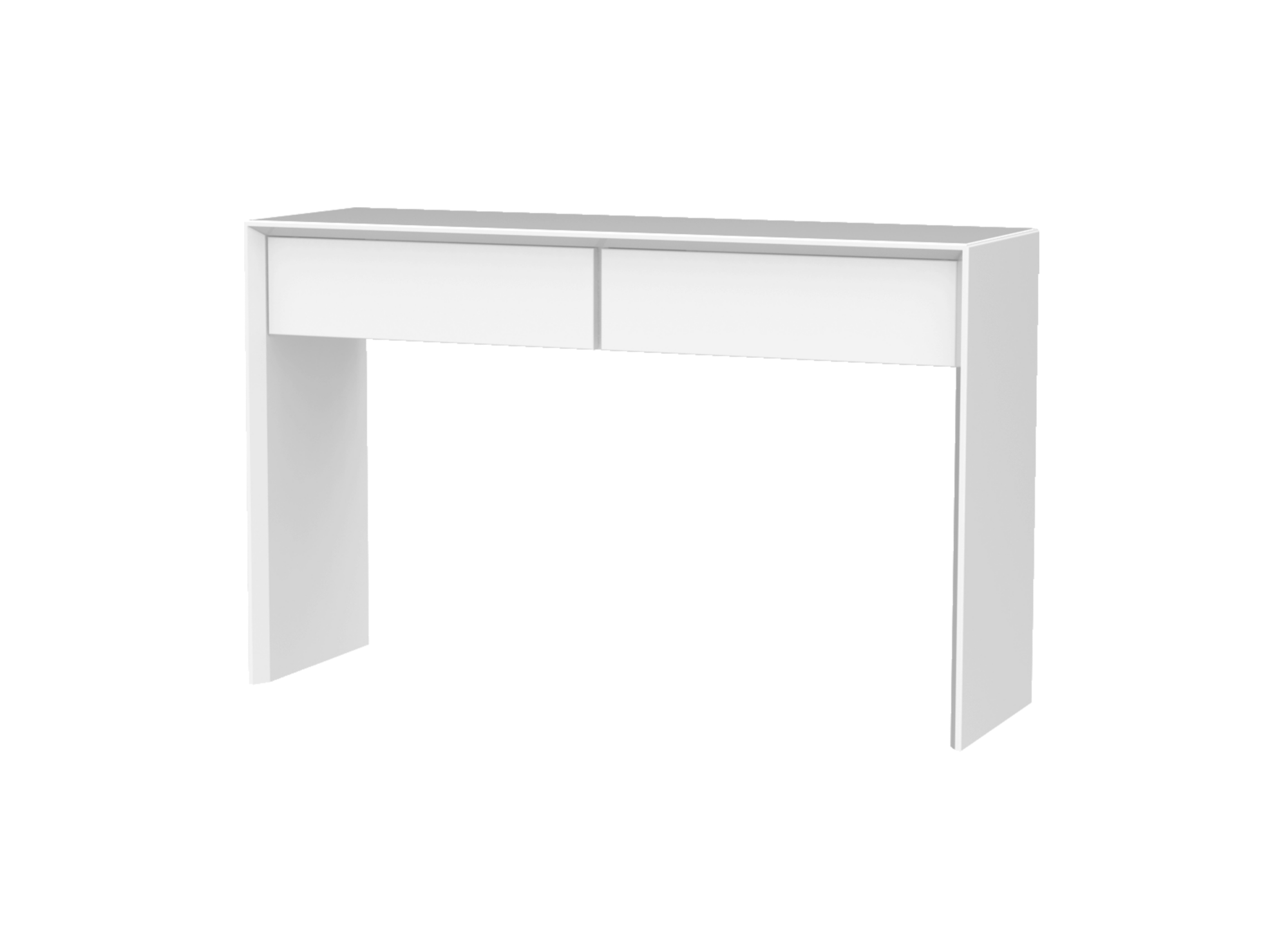 Console 2 tiroirs blanc console salon s jour for Console salon meuble