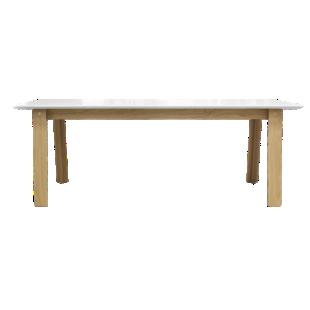 FLY-table rectangulaire + allonge blanc et chene