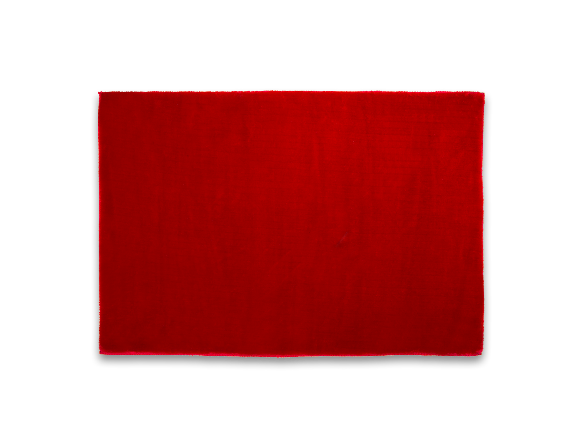 Tapis tufte mecanique 100% polyester coloris rouge densite 800g/m2 ...