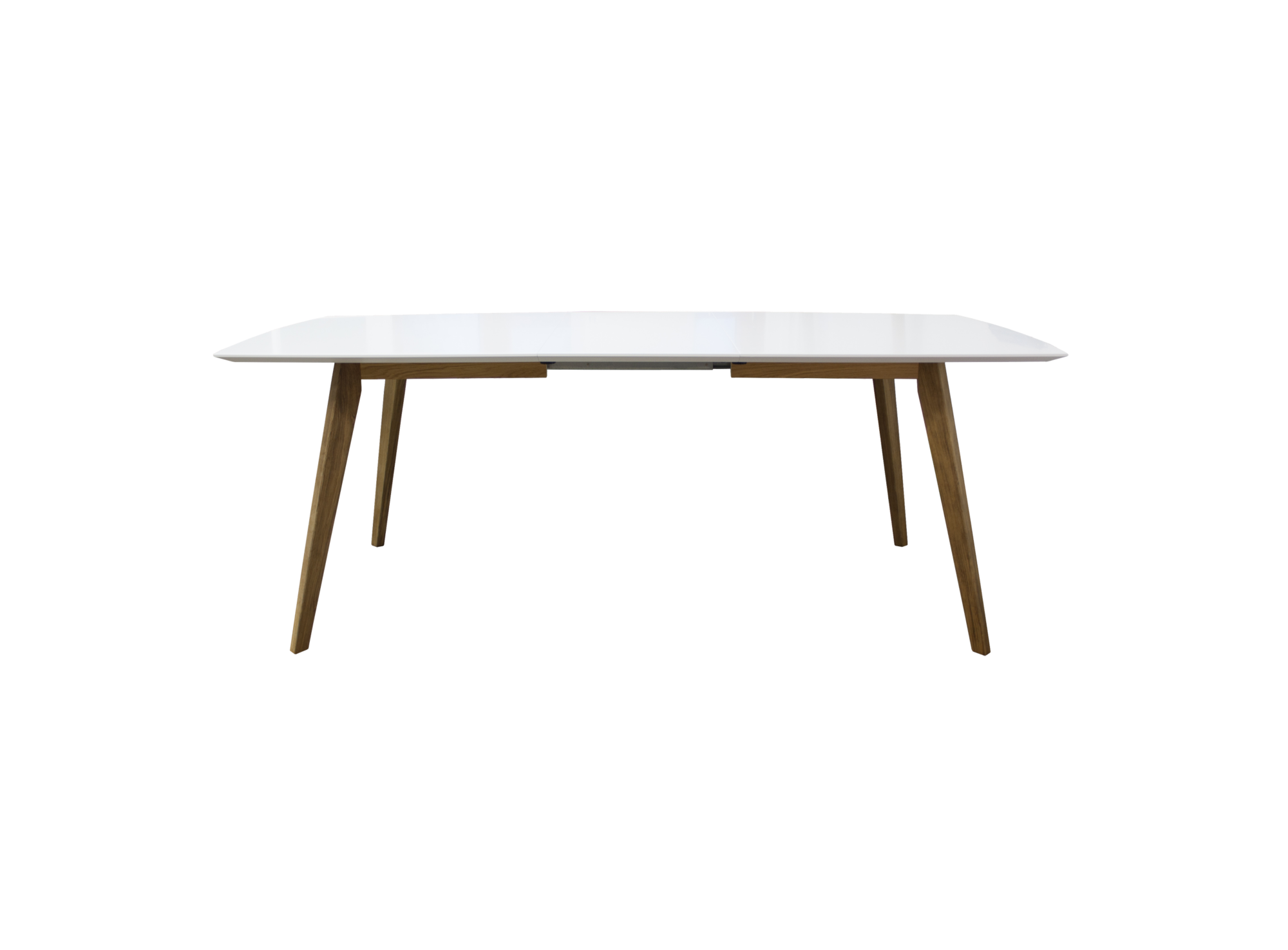 Table blanche carree avec rallonges type de produit for Table carree rallonge design