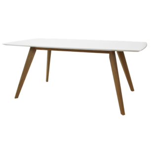FLY-table rectanculaire blanc/chene