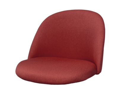 ally coque chaise tissu rouge | Fly