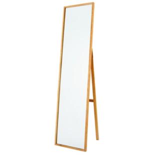 FLY-miroir psyche en noyer massif h. 158 cm naturel
