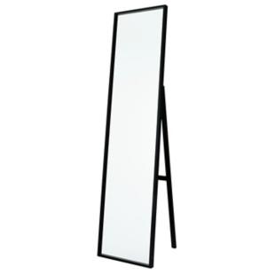 FLY-miroir psyche en noyer massif h. 158 cm noir