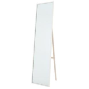 FLY-miroir psyche en noyer massif h. 158 cm blanc