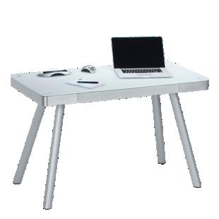 FLY-bureau plateau verre blanc