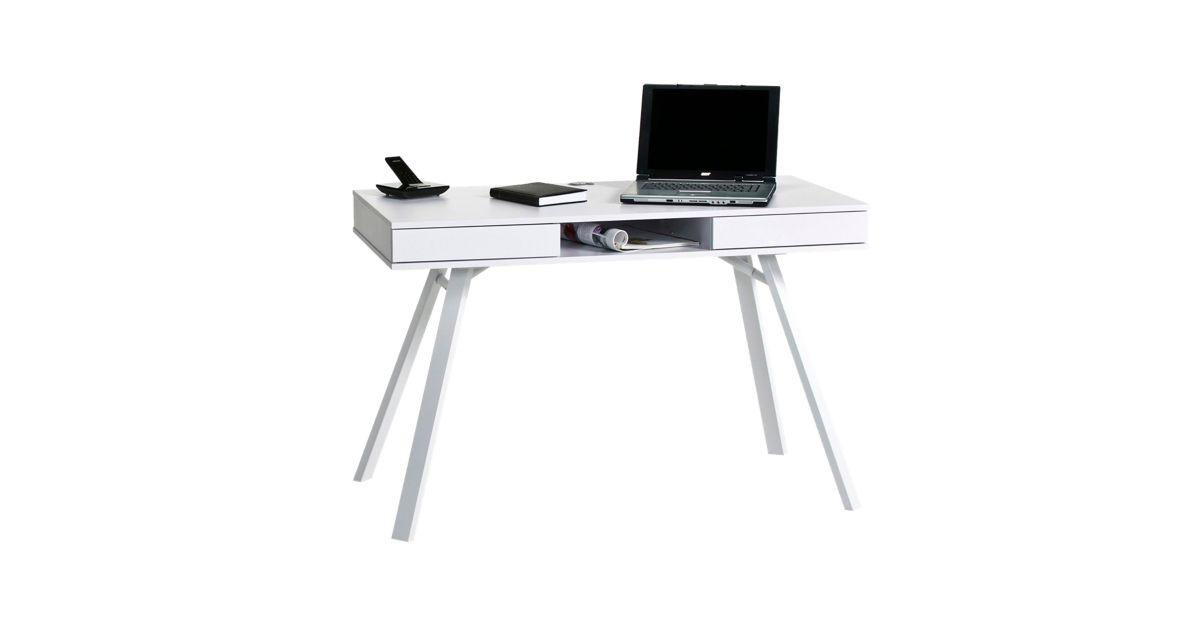 Bureau blanc bureau bureau meuble fly for Meuble bureau fly