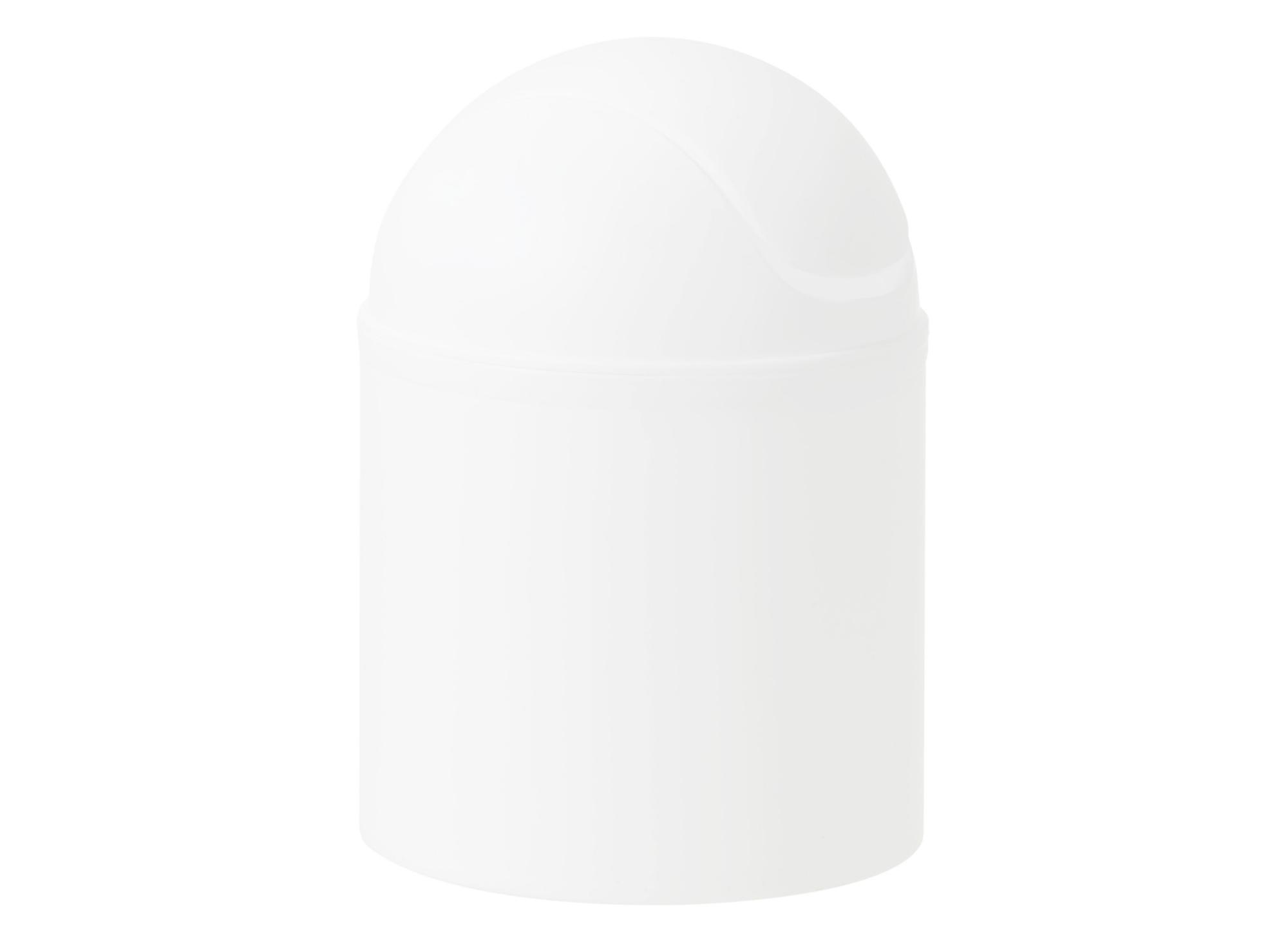 Poubelle couvercle a bascule en polypropylene coloris blanc contenanc ...