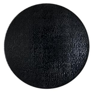 FLY-assiette plate en gres emaille d26cm noir