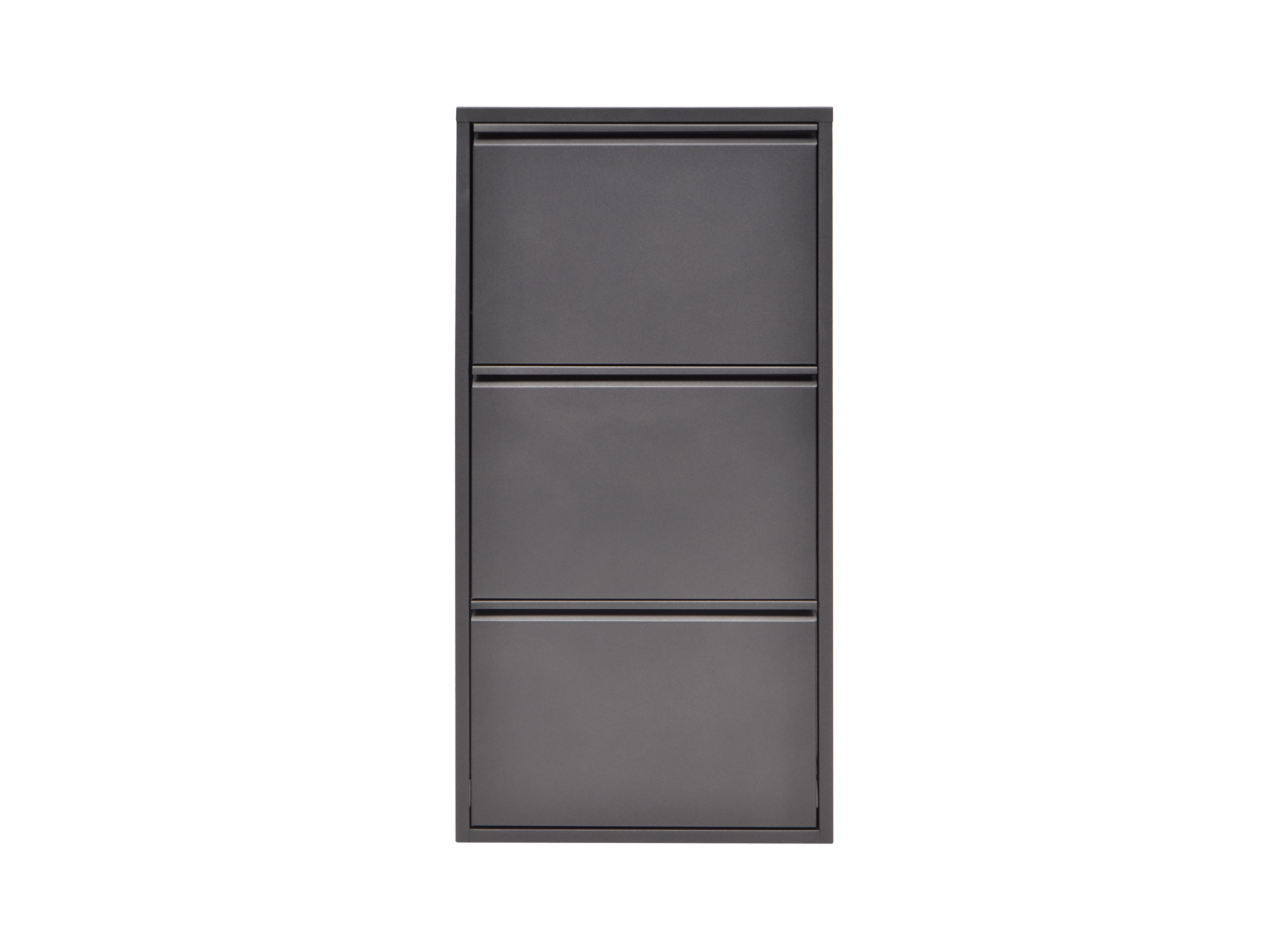 meuble a chaussures 3 abattants gris anthracite fly. Black Bedroom Furniture Sets. Home Design Ideas