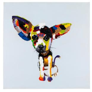 FLY-toile peinte  100x100 cm multicolore