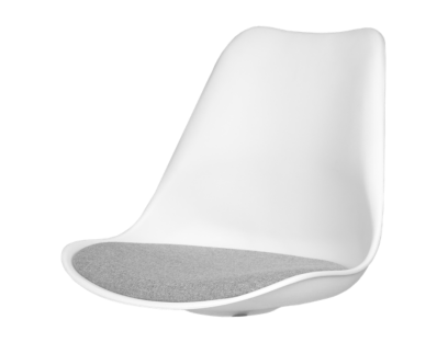 gina coque chaise blanc et gris | Fly
