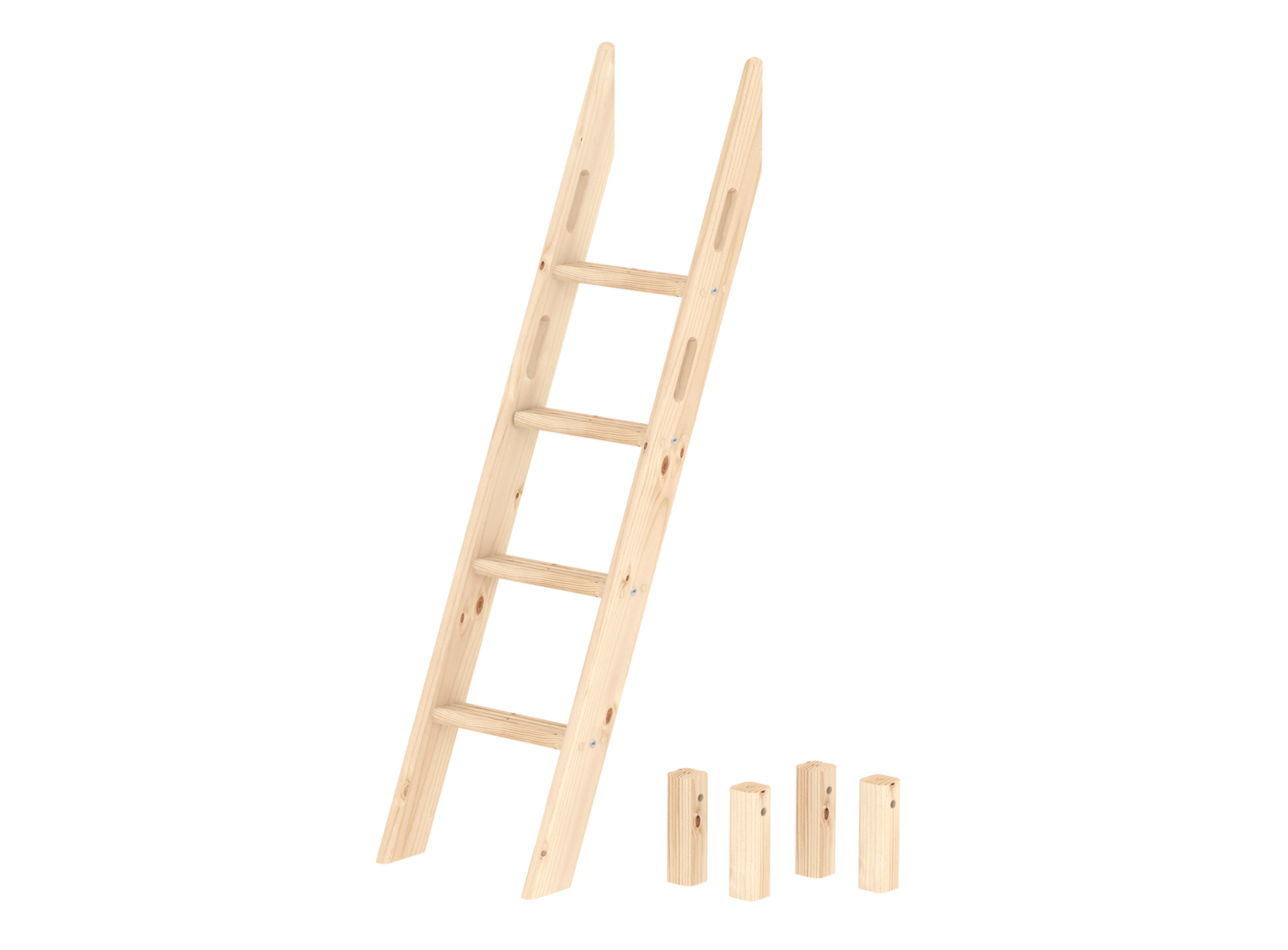 Echelle inclinee 4 barreaux pour lit sureleve ht 143 cm ou lit en dec ...