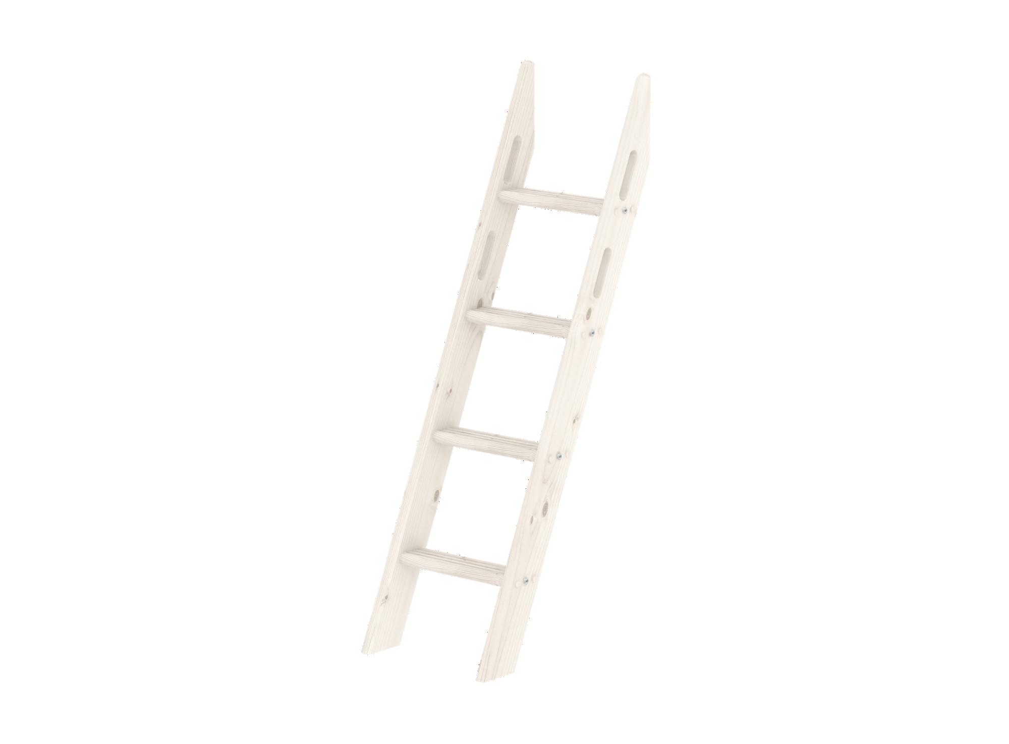 Echelle inclinee 4 barreaux pour lit sureleve ht 143 cm ou lit en dec ...