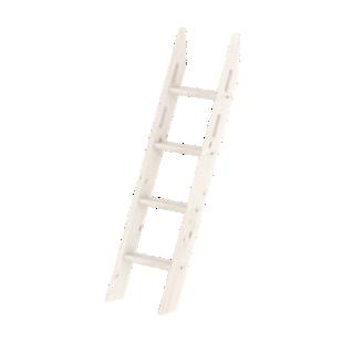 FLY-kit echelle inclinee 4 barreaux blanc / h.143 cm