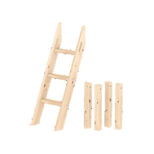 FLY-kit echelle inclinee 3 barreaux naturel / h.120 cm